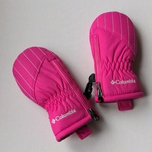 Columbia Bright Pink Infant Mittens
